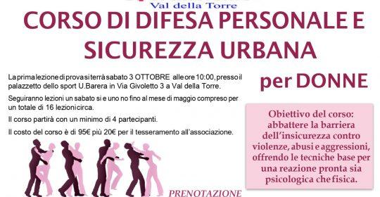 Corso Difesa personale e sicurezza personale per donne